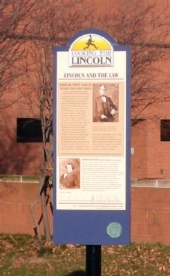Full View - - Lincoln and The Law Marker image. Click for full size.