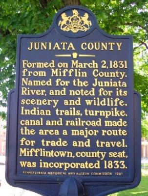 Juniata County Marker image. Click for full size.