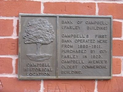 Bank of Campbell (Farley Building) Marker image. Click for full size.