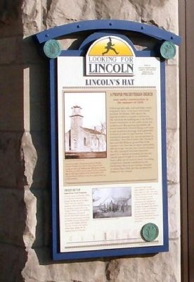 Full View - - Lincoln's Hat Marker image. Click for full size.