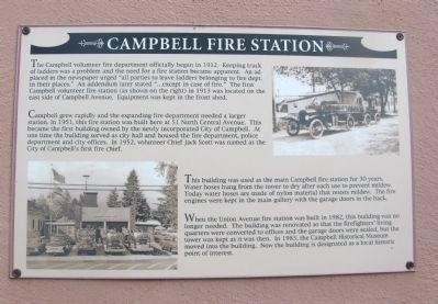 Campbell Fire Station Marker image. Click for full size.
