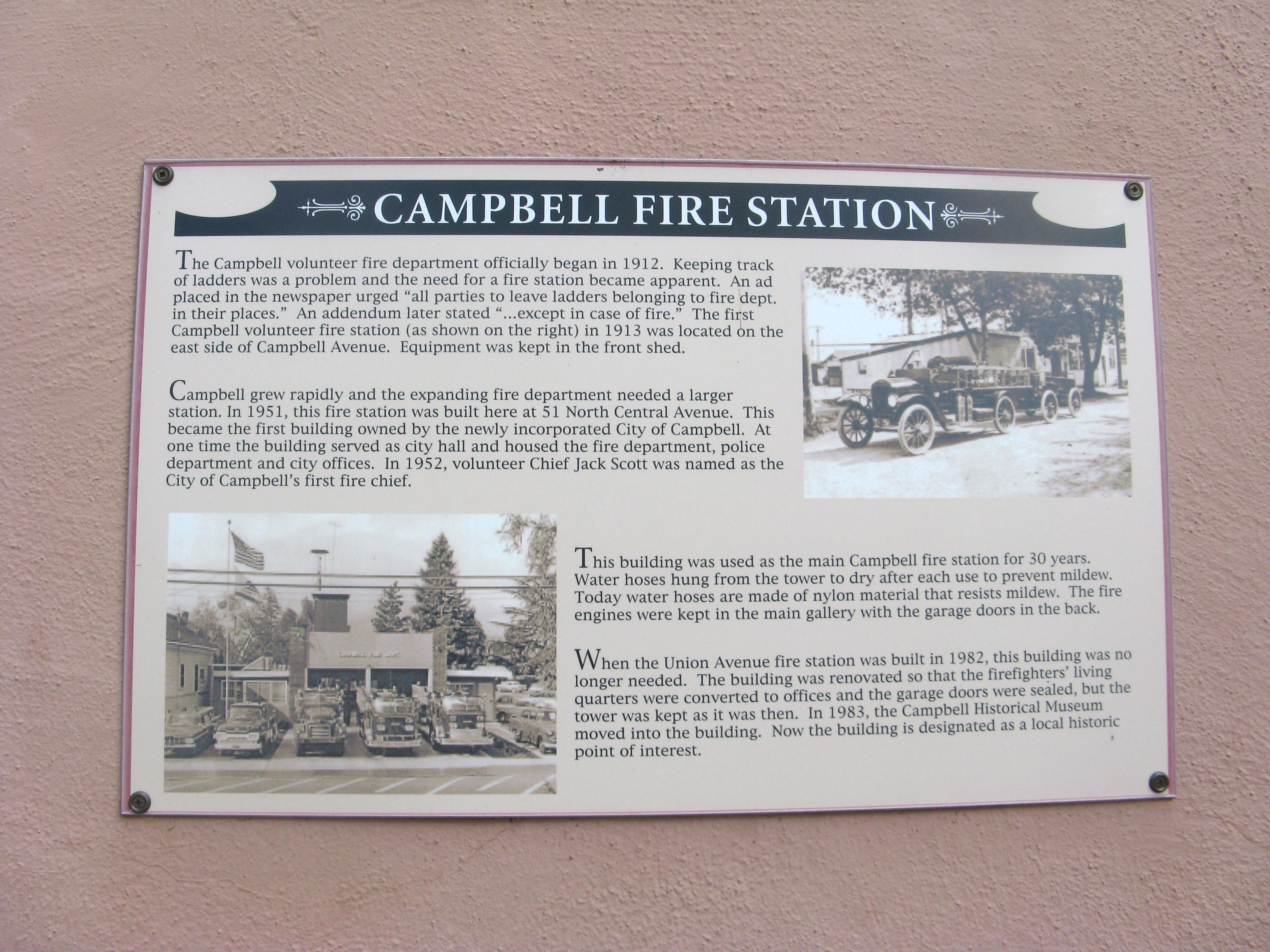 Campbell Fire Station Marker