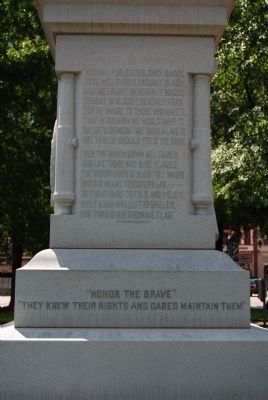 Abbeville County Confederate Monument - North image. Click for full size.