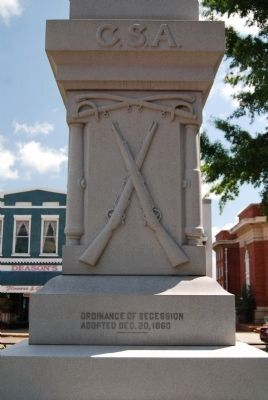 Abbeville County Confederate Monument - West image. Click for full size.