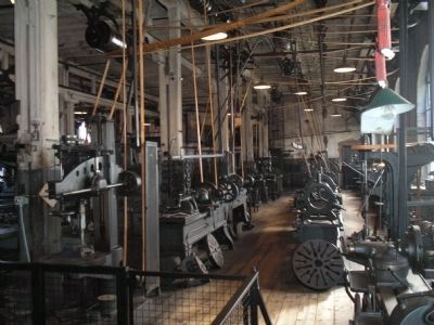 Thomas Edison's Heavy Machine Shop image. Click for full size.