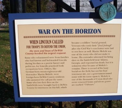Left Section - - War on the Horizon Marker image. Click for full size.
