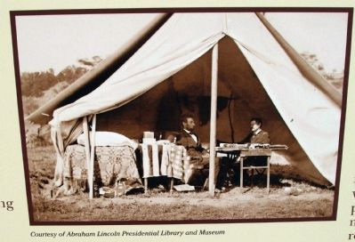 Close-up Photo - - President Abraham Lincoln & General George B. McClellan image. Click for full size.