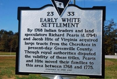 Early White Settlement Marker image. Click for full size.