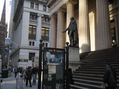 Marker on Wall Street image. Click for full size.