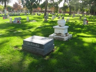 """Eberhard"" Marker and Gravesite image. Click for full size."