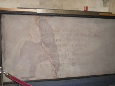 Federal Hall Inaugural Stone image. Click for full size.