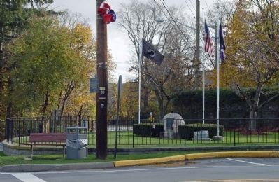 MIA Flag Flies over Memorial Park in Harriman, NY image. Click for full size.