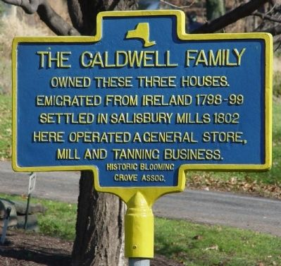 The Caldwell Family Marker image. Click for full size.