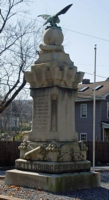 Blooming Grove War Monument Marker, east & north faces image. Click for full size.