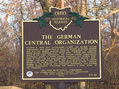 German Central Organization Marker image. Click for full size.
