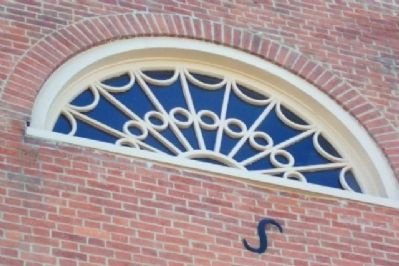Attic Fan Window on South Wall of McCoy Home image. Click for full size.