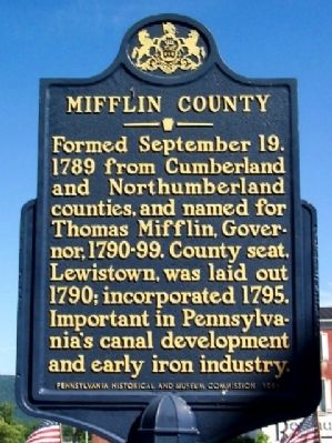 Mifflin County Marker image. Click for full size.