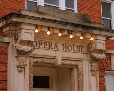 Abbeville Opera House Entrance image. Click for full size.