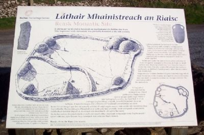 Reask Monastic Site / Láthair Mhainistreach an Riaisc Marker image. Click for full size.