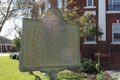 Bacon County Marker image. Click for full size.