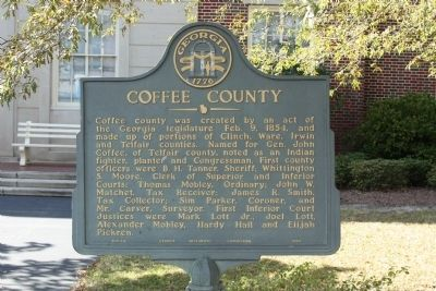 Coffee County Marker image. Click for full size.