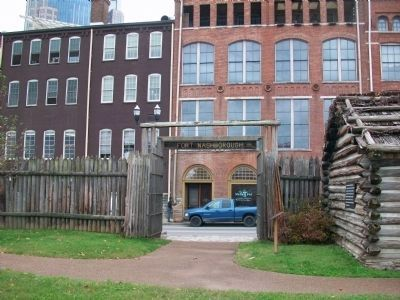 Fort Nashborough entrance image. Click for full size.