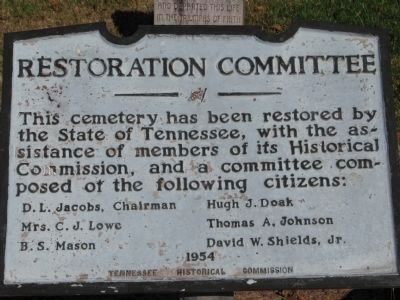 Restoration Committee Marker image. Click for full size.