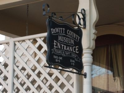 Sign - - ' DeWitt County Museum ' -&- (a.k.a.) ' The C. H. Moore Homestead ' image. Click for full size.