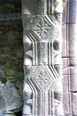 Kilmalkedar Church Interior Romanesque Detail image. Click for full size.