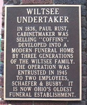 Wiltsee Undertaker Marker image. Click for full size.