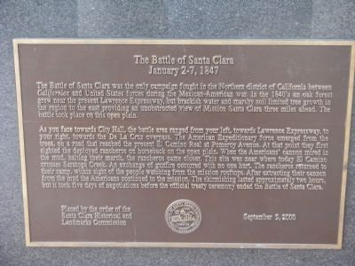 The Battle of Santa Clara Marker image. Click for full size.