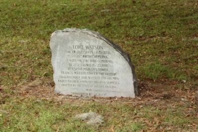 Fort Watson Stone Marker image. Click for full size.