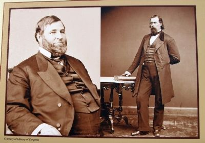 Close-up Photo - - ' Judge David Davis -&- Ward Hill Lamon ' image. Click for full size.