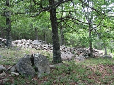 Ancient Stone Wall, Fort Mountain State Park image. Click for full size.