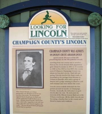 Top Section - - Champaign County's Lincoln Marker image. Click for full size.