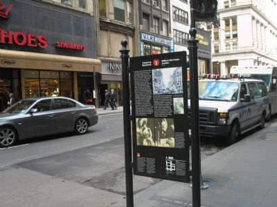 Marker on Broadway image. Click for full size.