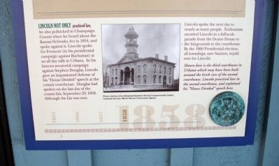 Bottom Section - - Champaign County's Lincoln Marker image. Click for full size.