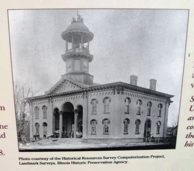 Close-up Photo - - The Third Courthouse in Urbana image. Click for full size.