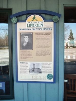 Full View - - Champaign County's Lincoln Marker image. Click for full size.