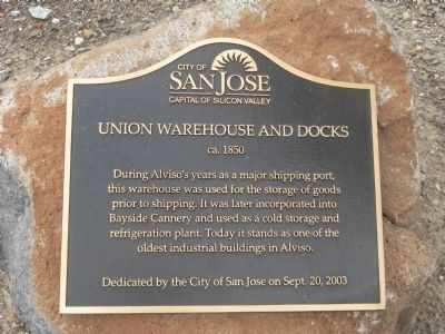 Union Warehouse and Docks Marker image. Click for full size.