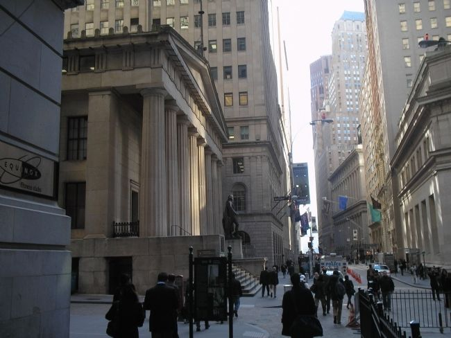 Wall Street Buildings image. Click for full size.