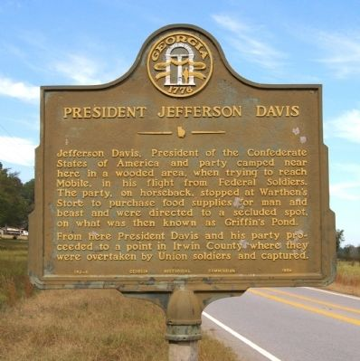 President Jefferson Davis Marker image. Click for full size.