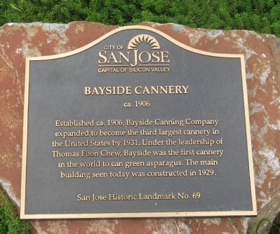 Bayside Cannery Marker image. Click for full size.