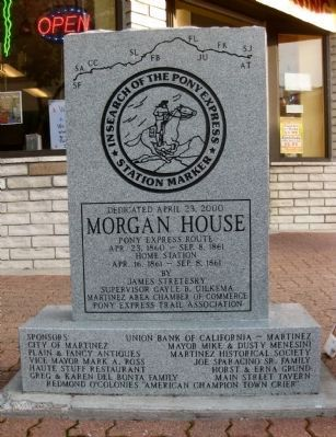 Morgan House Marker (Front) image. Click for full size.