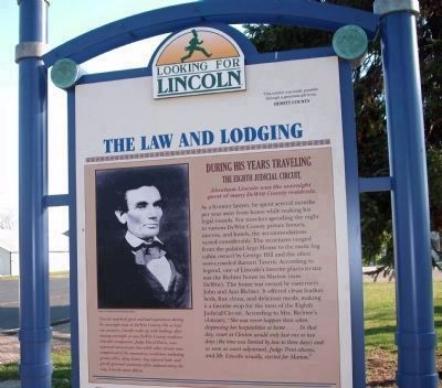 Top Section - The Law and Lodging / Marker image. Click for full size.