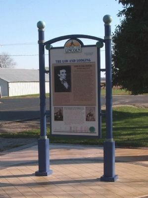 Full View -The Law and Lodging Marker image. Click for full size.
