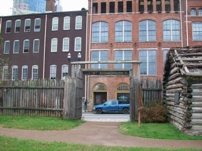 Entrance to Fort Nashborough image. Click for full size.