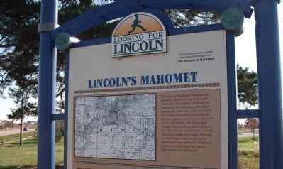 Top Section - - Lincoln's Mahomet / Marker image. Click for full size.