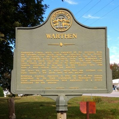 Warthen Marker image. Click for full size.