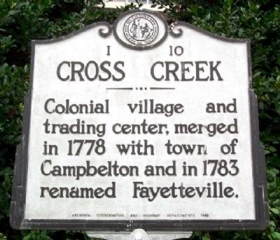 Cross Creek Marker image. Click for full size.